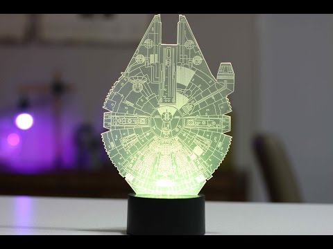 Star Wars Millennium Falcon LED RGB Lamp - $25