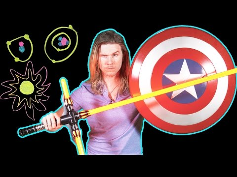 Could a Lightsaber Cut Through Captain America's Shield? (Because Science w/ Kyle Hill)