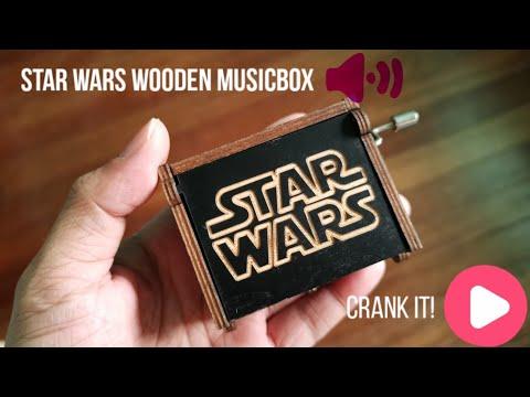 Starwars Wooden Hand Crank MusicBox | Starwars Music Box