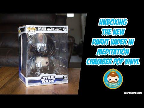 Darth Vader in meditation chamber Pop! Vinyl unboxing