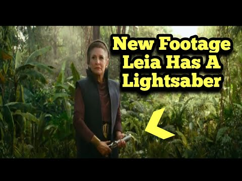 New Footage of Leia Holding a Lightsaber   Star Wars: the Rise of Skywalker TV Spot Breakdown