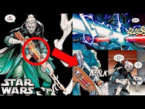 The Secret Jedi Lightsaber-Blaster Weapon Used by Jocasta Nu Against Darth Vader