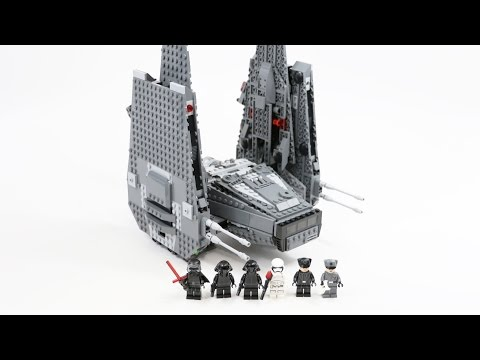 LEGO Star Wars Kylo Ren's Command Shuttle (Timelapse & Review) - Set 75104