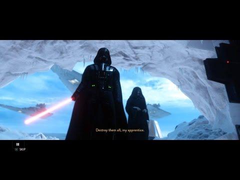 STARWARS BF - Battle on Hoth - Darth Vader HYPE, Force Chokes, and Light Saber BoOMERANG!
