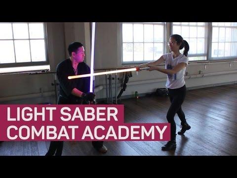 Inside a lightsaber combat lesson