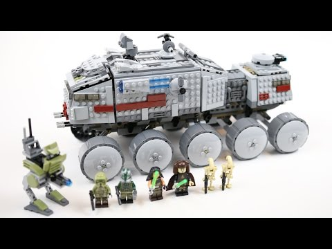 LEGO Star Wars Clone Turbo Tank (Timelapse & Review) - Set 75151