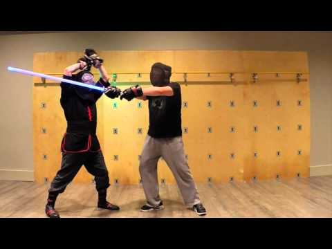 Training Hall: Shii-Cho in dueling.