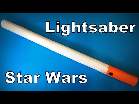 How to Make a Paper Lightsaber from Star Wars DIY   Easy Origami ART Paper Crafts