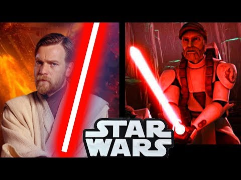 The Only Time Obi-Wan Used a RED LIGHTSABER in CANON!! - Star Wars Explained