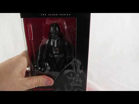 Darth Vader star wars black series action figure unboxing
