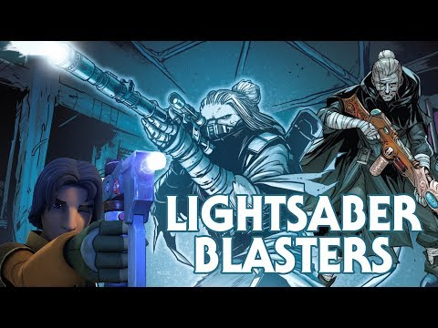 Three Lightsaber Powered Blasters Built by Jedi