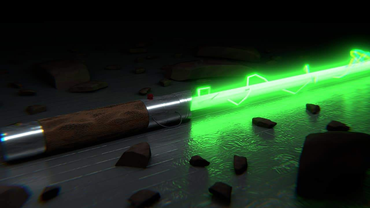 lightsaber and force