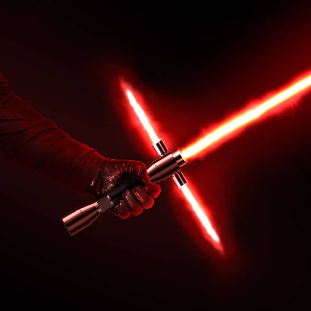 jedi with red lightsaber