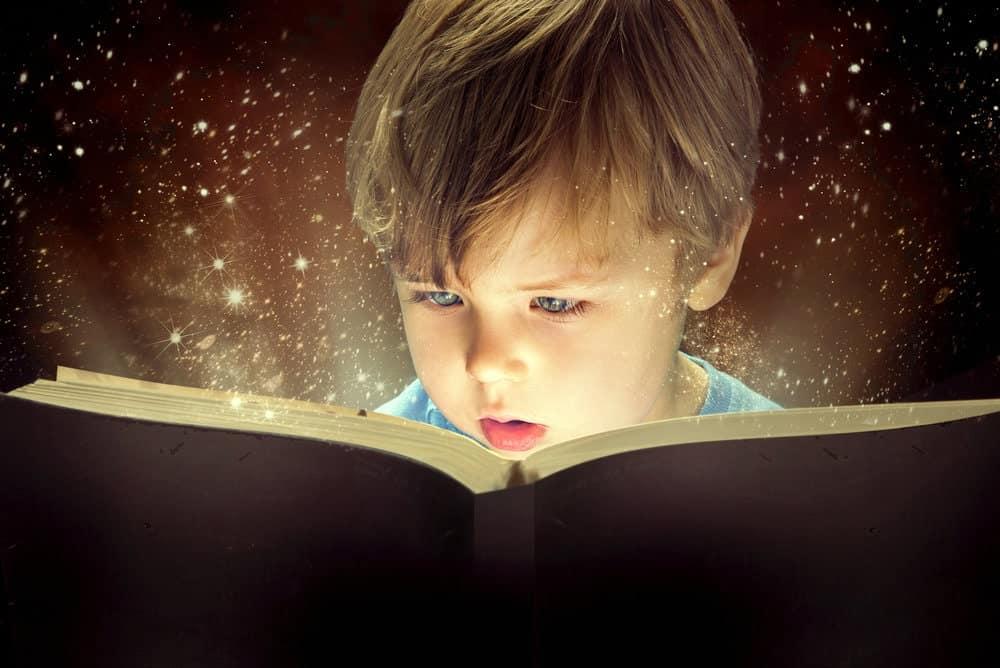 baby reading Star Wars comics