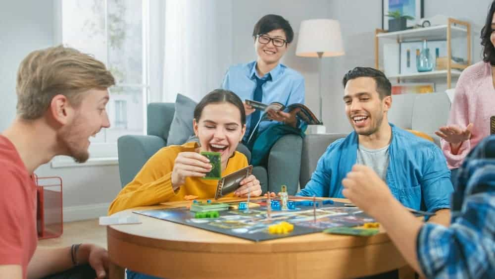 friends playing star wars board games